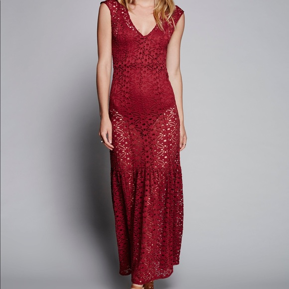 Free People Dresses & Skirts - Free People Highline Lace slip in Maxi Dress